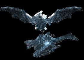 XPS and MMD TES V: Crystall Dragon by Tokami-Fuko