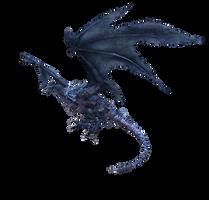 Dark Souls: Blue wyvern xps mmd by Tokami-Fuko