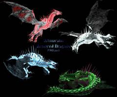 Atmorahn armored dragons png mmd xps by Tokami-Fuko