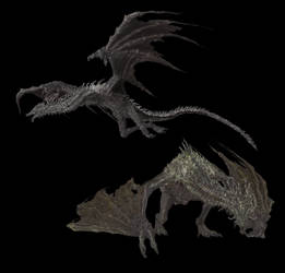 Lotric Wyverns png by Tokami-Fuko