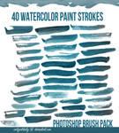 40 Watercolor Brushes