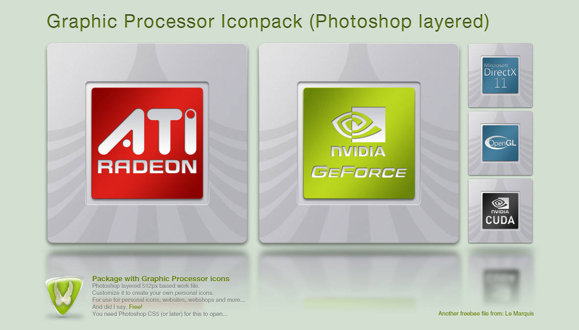 Graphic Processor Iconpack by LeMarquis