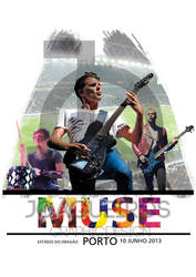 Tshirt Muse White Estadio do Dragao