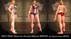 SFxT Mod: Nina in Anna's bikini REDUX