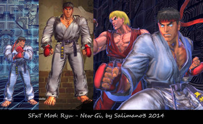 SFxT Mod: Ryu - New Gi by repinscourge