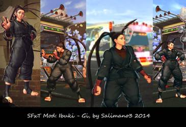 SFxT Mod: Ibuki - Gi by repinscourge