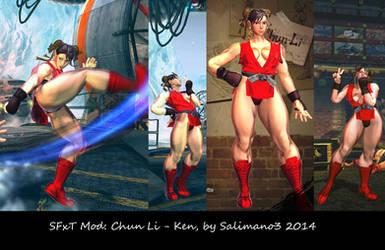 SFxT Mod: Chun-Li - Ken by repinscourge
