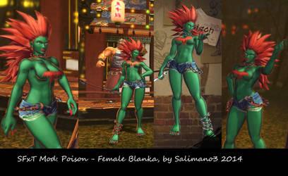 SFxT Mod: Poison - Female Blanka by repinscourge