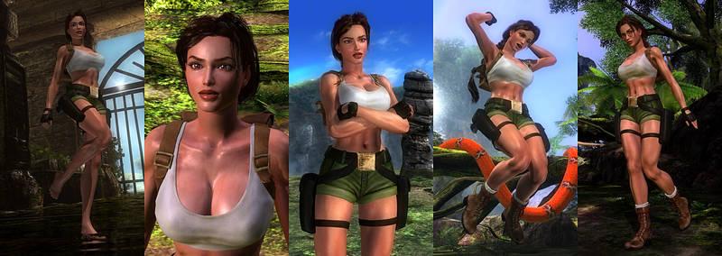 DOA5LR Mod: Lara Croft TRIII South Pacific