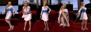 DOA5LR Mod: Helena White-Blue Kimono