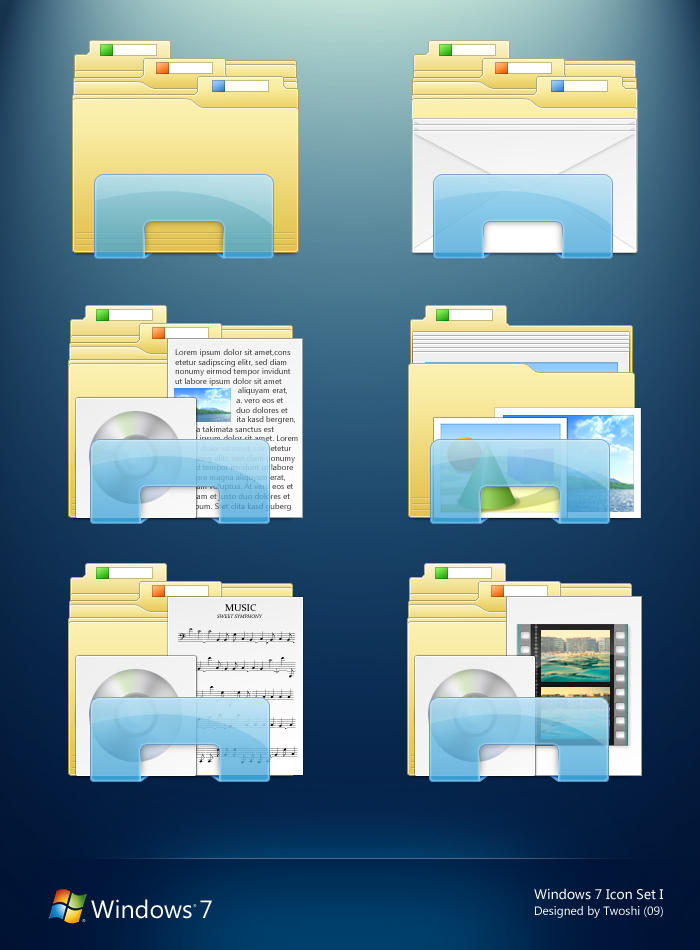 Windows 7 Folder Icons By 2Shi On DeviantArt