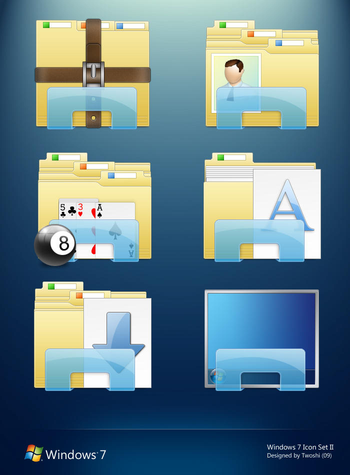 Windows 7 Folder Icons II by 2Shi