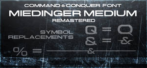 Command and Conquer - logo font