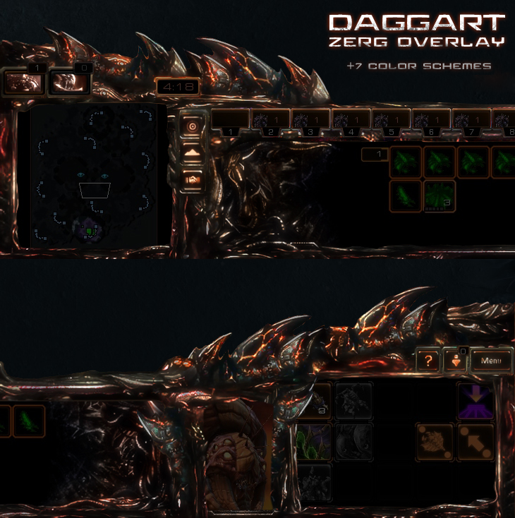 Zerg UI Overlay - 12 color schemes by Dexistor371 on DeviantArt