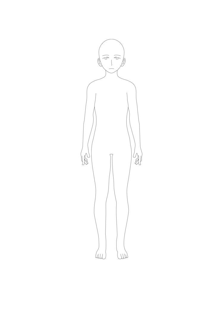 Manga Template Male Body Front By Art Land Squid On Deviantart