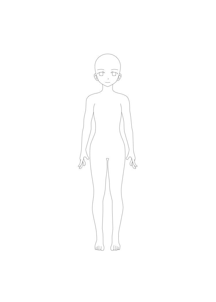Manga Template Female Body Front By Art Land Squid On Deviantart