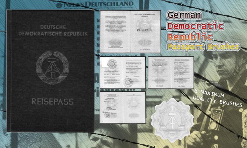 GDR Passport Brushes