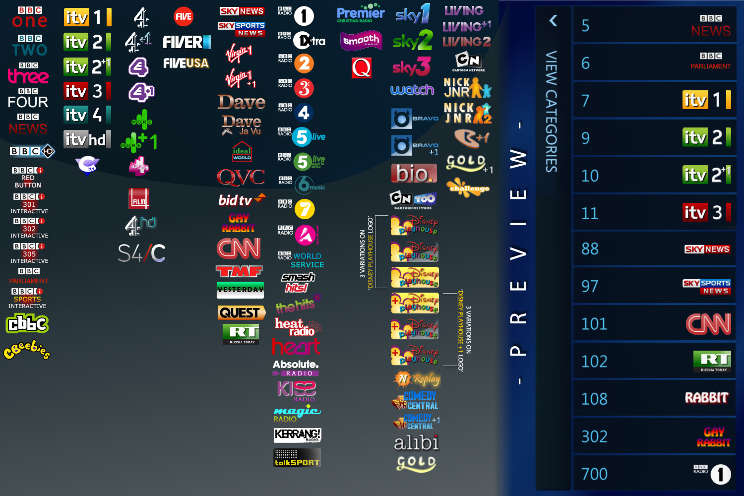 UK Freeview Channel Logo Pack by user4574 on DeviantArt