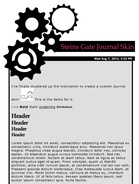 Steins Gate Journal Skin by Ninjaotakustalker