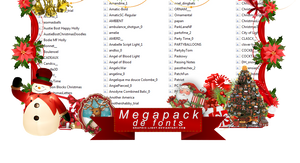 Christmas fonts Megapack by Graphic-Light