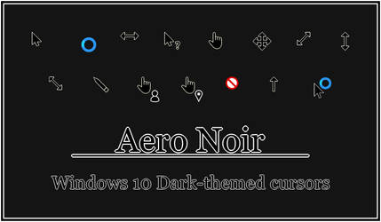 Aero Noir - Windows 10 Cursors
