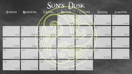 Skyrim Hold NaNoWriMo Calendars 2017 50K WSS 13x9