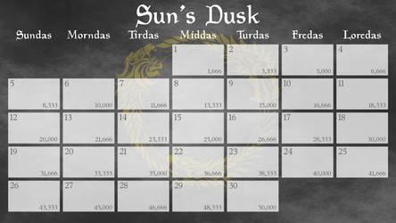 Elder Scrolls Online NaNoWriMo Calendars 2017 13x9
