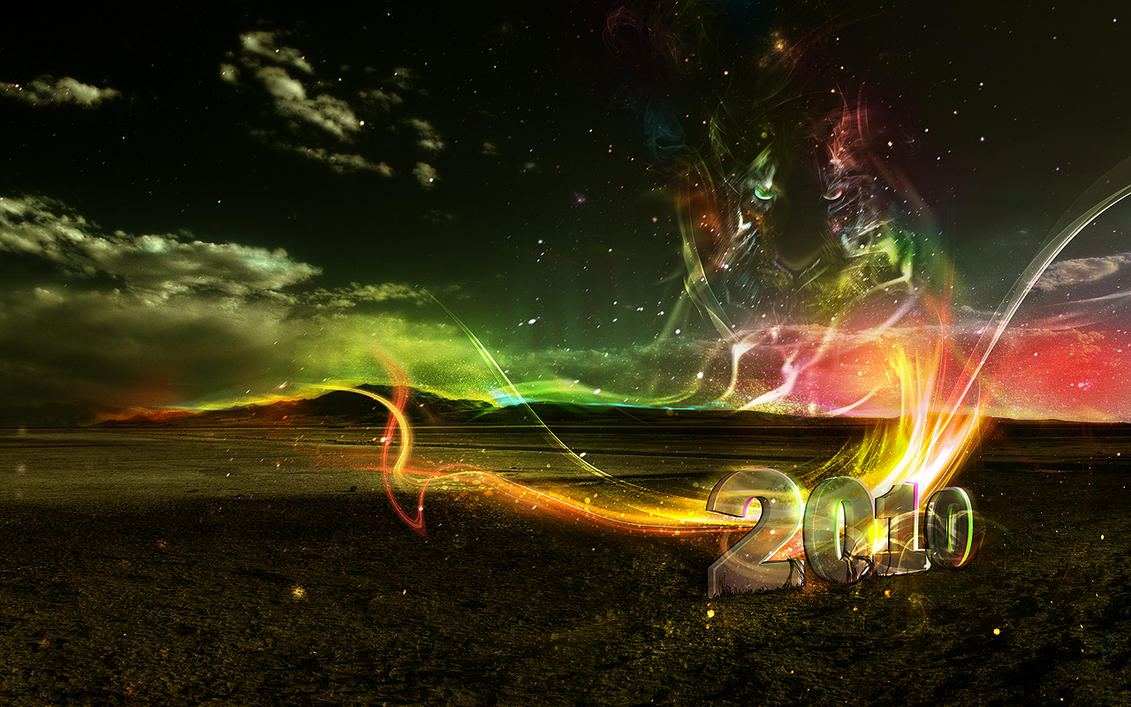 Free 2010 Wallpaper - New Year by ElenaSham