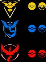 PokeMon Go - Team Logos
