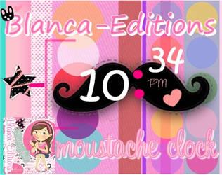 skins de xwidget reloj mostacho!!!! by blancaselenaticaa