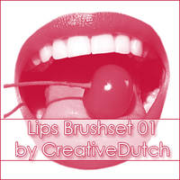 Brushes Lips 01 by creativedutch