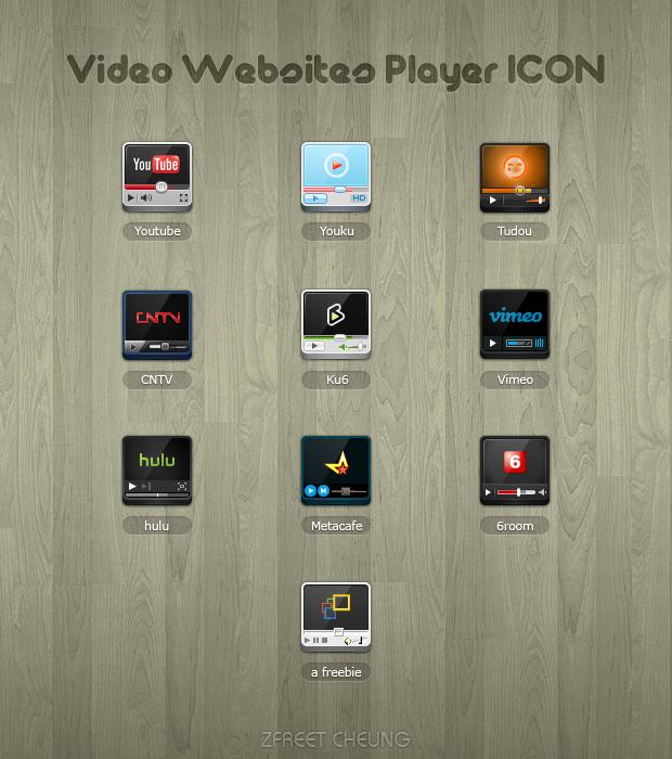 Video Websites Player ICON