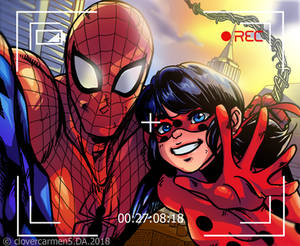 The Amazing Spider Man and Miraculous Lady Bug