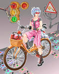 CLOSED adopt SB 15 Bike girl by Miletysant