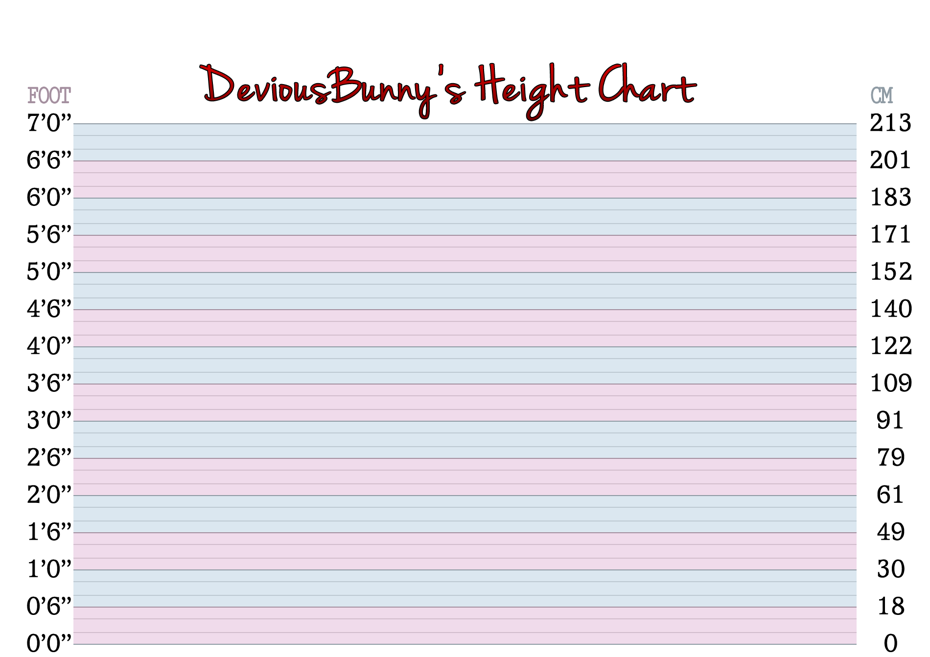 Deviousbunny 39 s height chart ver 2 2 by disastrousbunny on for Model height