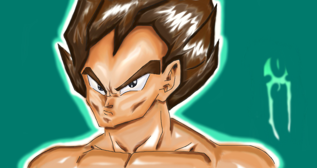 Vegeta Color/Lineart Practice by gwenlectra