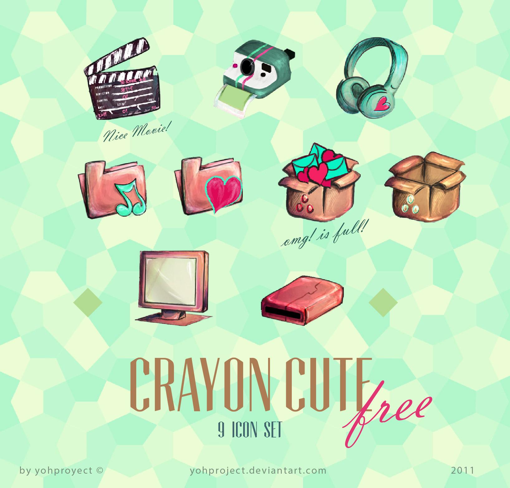 Crayon Cute Korean icons