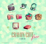 Crayon Cute Korean icons