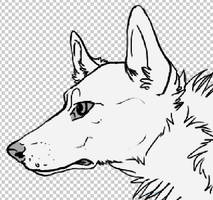 Free Wolf Lineart by TheK3nnel