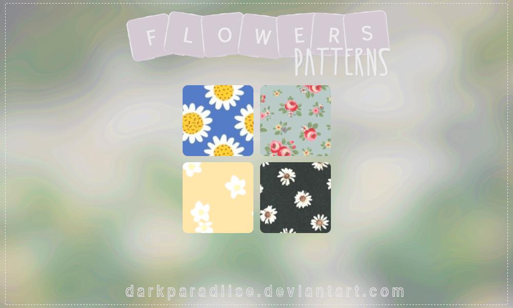 Flowers patterns by DarkParadiise