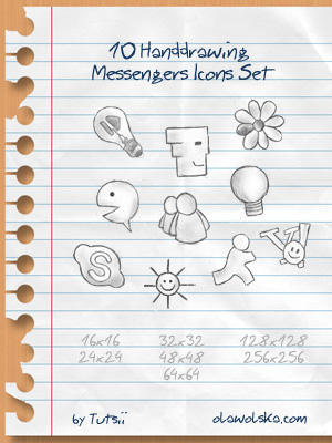 Handdrawing Messengers Icons