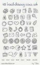 49 hand-drawing icons set by Tutsii