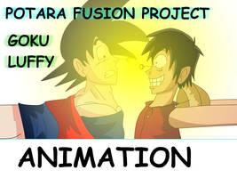 Potara Project: Goku and Luffy by bocodamondo