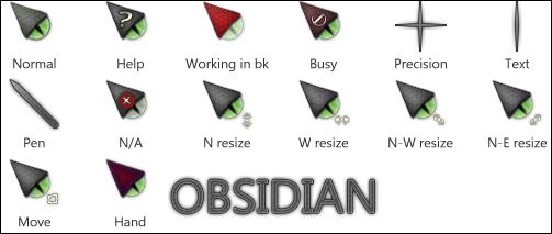Obsidian for CursorFX by roflmfaoo