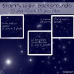 Starry Night Backgrounds Set
