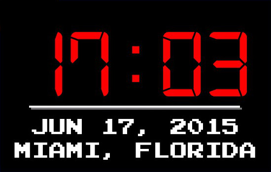 Miami Hotline Clock 1.1