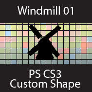 Windmill01 PSCS3 Custom Shape by estjohn