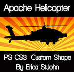 Apache Helicopter PS CS3 Shape