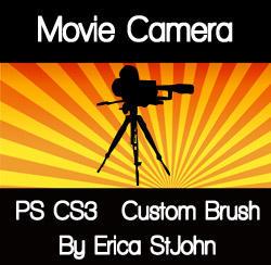 Movie Camera PS CS3 Brush by estjohn