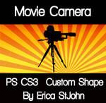 Movie Camera PS CS3 Shape